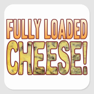Fully Loaded Blue Cheese Square Sticker
