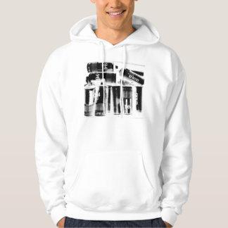 Fully Loaded White Hooded Sweatshirt