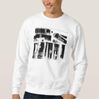 """""""Fully Loaded X-Ray"""" White Crewneck Sweater Pullover Sweatshirt"""