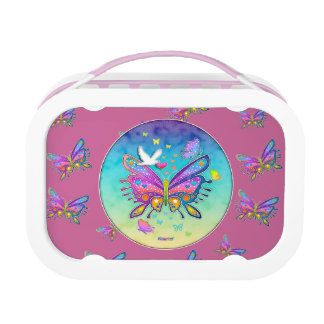 FULLY PERSONALIZABLE BUTTERFLY LUNCH BOX