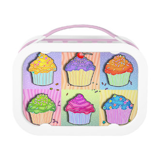 FULLY PERSONALIZABLE CUPCAKES LUNCH BOX