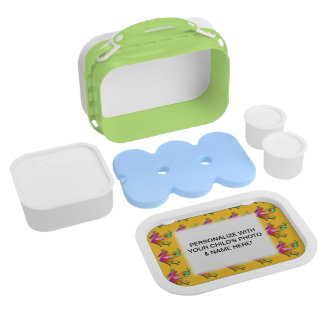 FULLY PERSONALIZABLE FROG LUNCH BOX