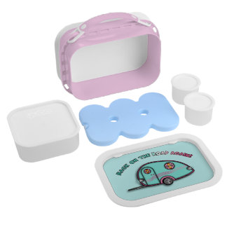 Fully Personalizable Tear Drop Trailer Lunch Box