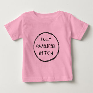 Fully Qualified Witch - Charcoal Effect Baby T-Shirt