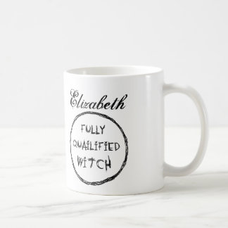 Fully Qualified Witch - Charcoal Effect Coffee Mug