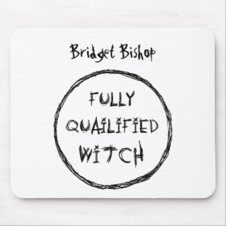 Fully Qualified Witch - Charcoal Effect Mouse Pad