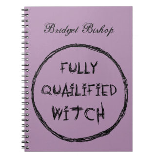 Fully Qualified Witch - Charcoal Effect Spiral Notebook