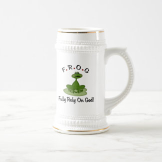 Fully Rely on God Beer Stein