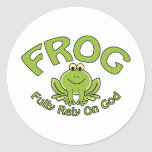 Fully Rely On God Classic Round Sticker
