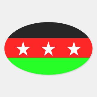 FULRO flag Oval Sticker