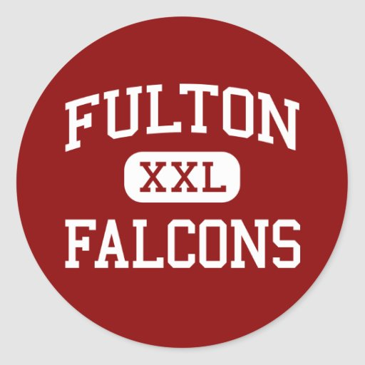 Fulton - Falcons - High - Knoxville Tennessee Round Stickers