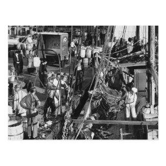 Fulton Fish Market, 1939 Postcard