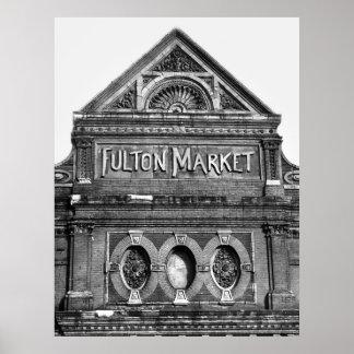 Fulton Fish Market, 1939 Poster
