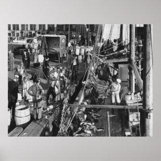 Fulton Fish Market: 1939 Print