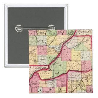 Fulton, Mason, Cass, Menard counties Pinback Button