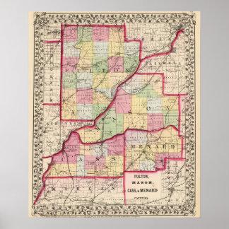 Fulton, Mason, Cass, Menard counties Print
