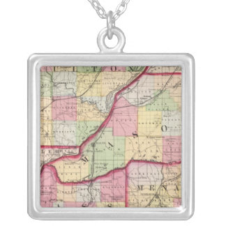 Fulton, Mason, Cass, Menard counties Square Pendant Necklace