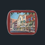 """Fulton Opera House candy tin<br><div class=""""desc"""">Created and designed from an original watercolor by artist Lisa Madenspacher,  this beautiful candy tin is the perfect gift to yourself or a friend who loves the Fulton in Lancaster Pa.  A beautiful representation of an historic building still offering wonderful plays and musicals.</div>"""
