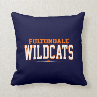 Fultondale High School; Wildcats Throw Pillow