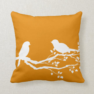 Fulvous Peaceful Branch Throw Pillow
