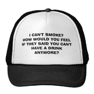 Fumador contra bebedor gorra