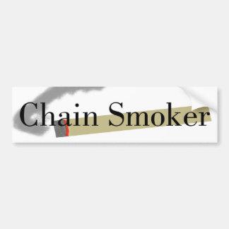 Fumador empedernido pegatina para auto