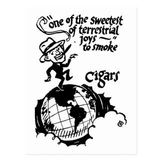 Fuman cigarro alegría terrenal tarjetas postales