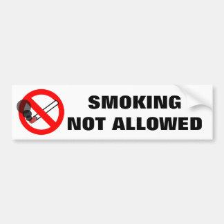 Fumar la señal de peligro no permitida pegatina para auto