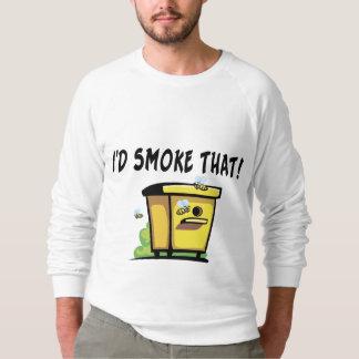 Fumaría esa colmena de la abeja sudadera