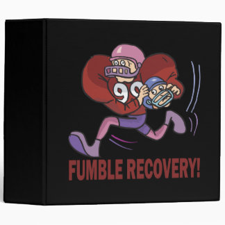 Fumble Recovery 3 Ring Binder