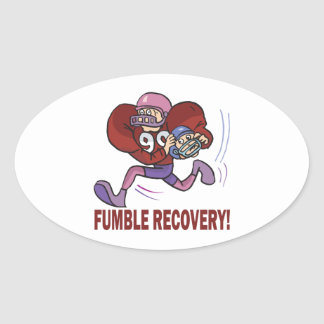 Fumble Recovery Oval Sticker