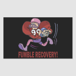 Fumble Recovery Rectangular Sticker
