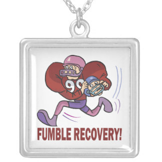 Fumble Recovery Square Pendant Necklace