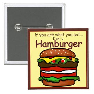Fummy I Am Hamburger Button