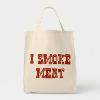 Fumo la carne bolsa tela para la compra