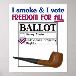 Fumo y voto el poster 16x20'