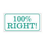 "[ Thumbnail: Fun ""100% Right!"" School Teacher Rubber Stamp ]"