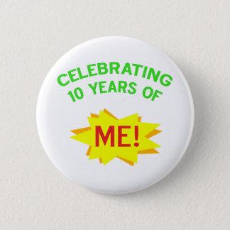 Fun 10th Birthday Gift Idea Button