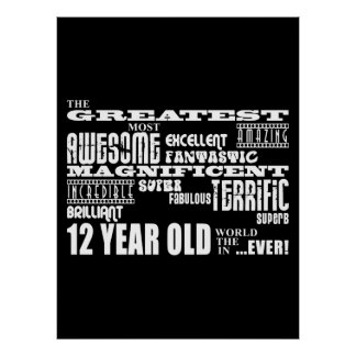Fun 12th Birthday Party Greatest Twelve Year Old Print