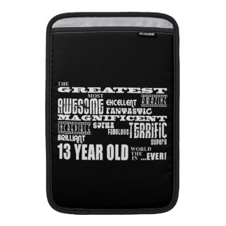 Fun 13th Birthday Party Greatest Thirteen Year Old Sleeve For MacBook Air