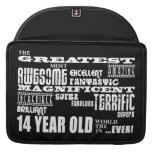 Fun 14th Birthday Party Greatest Fourteen Year Old Sleeves For MacBook Pro