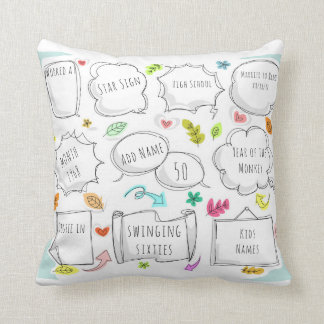 FUN 1968 yr born THIS IS YOUR LIFE - ADD MILESTONE Throw Pillow