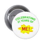Fun 21st Birthday Gift Idea Buttons