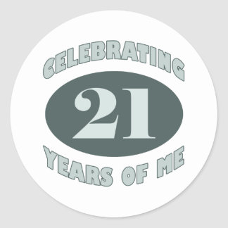 Fun 21st Birthday Gifts Classic Round Sticker
