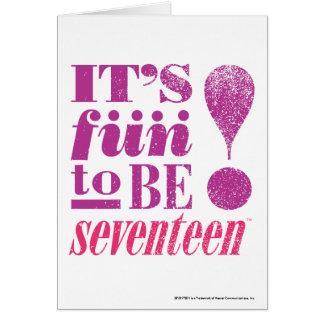 Fun 2 B 17-Purple Greeting Card