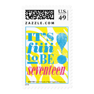 Fun 2 Be 17 Aqua Postage Stamps