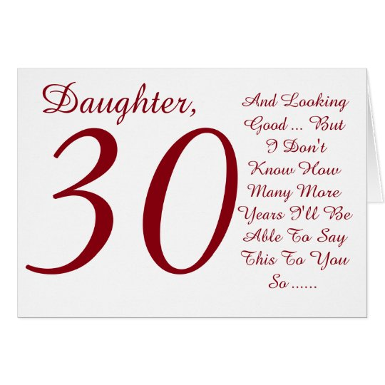 Birthday Wishes For Daughter Turning 30