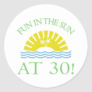 Fun 30th Birthday Gifts Classic Round Sticker