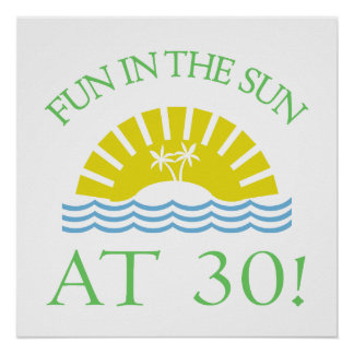 Fun 30th Birthday Gifts Posters
