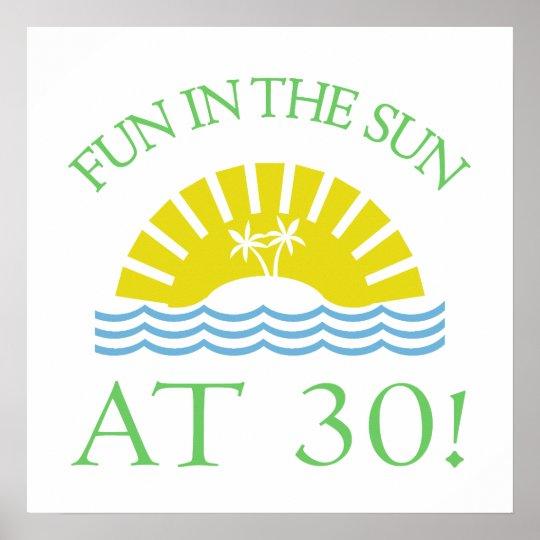 Fun 30th Birthday Gifts Poster